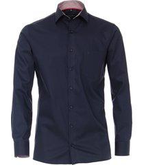 casamoda heren overhemd contrast in boord kent modern fit