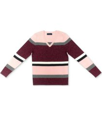 karen scott cotton striped sweater, created for macy's