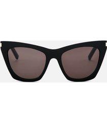 saint laurent women's kate acetate sunglasses - black