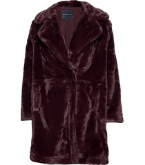 pf banna faux fur long coat outerwear faux fur paars french connection