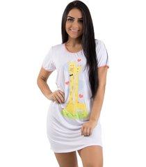 camisola girafa linha noite 384 branca - branco - feminino - dafiti