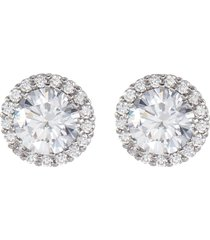 cubic zirconia pavé trim stud earrings