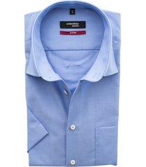 overhemd seidensticker korte mouw blauw non iron