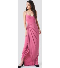 trendyol cut out maxi dress - pink