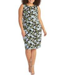 plus size women's rachel rachel roy embroidered floral sheath dress