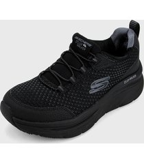 tenis training negro skechers relaxed fit
