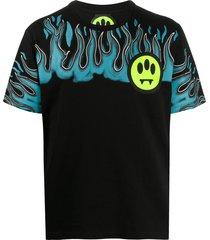 barrow short sleeve flame print t-shirt - black