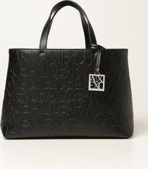 armani collezioni armani exchange tote bags armani exchange handbag in synthetic leather with logo