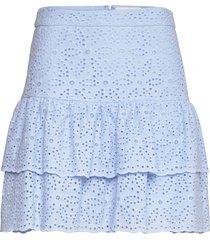 kacey skirt kort kjol blå by malina