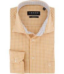 overhemd ledub modern fit oranje ruit