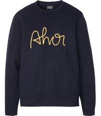 maglione con cotone riciclato (blu) - rainbow