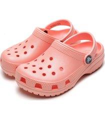 babuche crocs menina classic clog k rosa