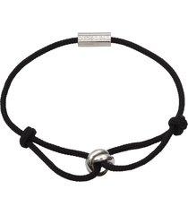 degs & sal trinity rope bracelet in blak at nordstrom
