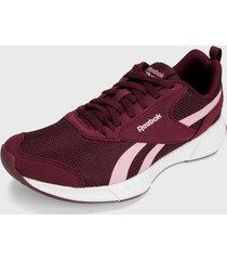 tenis running vinotinto-rosado reebok ldx23 lightway plus