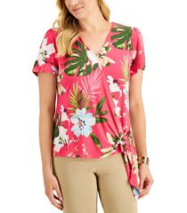 jm collection st barts tropical-print top, created for macy's