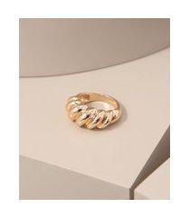 anel feminino concha dourado