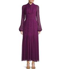 tieneck silk dress