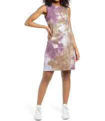 women's bp. french terry tank dress, size x-large - purple