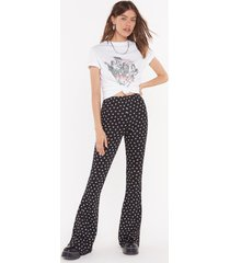 womens grow the distance floral flared pants - black