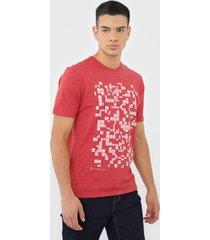 camiseta dudalina geomã©trica vermelha - vermelho - masculino - algodã£o - dafiti