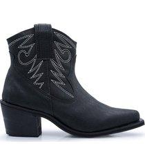 bota texana negra kandil mujer botas charro moda  negro