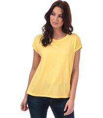 vero moda womens ava t-shirt size 10 in yellow