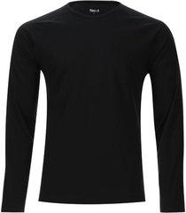 camiseta descanso unicolor color negro, talla l