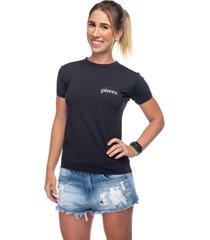 camiseta  funfit camiseta  feminina signos funfit - peixes preto - kanui