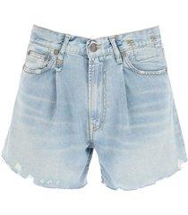 r13 damon vintage indigo shorts