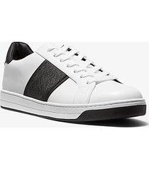 mk sneaker tyler in pelle con logo - bianco ottico (bianco) - michael kors