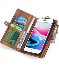 custodia vintage multifunzionale per iphone 6/6 / 6s / 7/7 plus / 8/8 plus / x