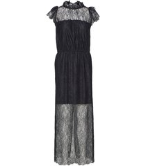 long ruffled lace dress dresses evening dresses svart designers, remix