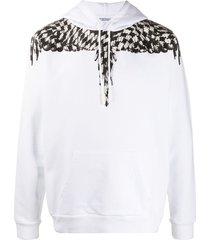 marcelo burlon county of milan cross wings hoodie - white