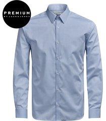 jack & jones premium heren overhemd non iron licht twill kent slim fit
