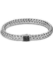 'classic chain' sapphire woven silver chain bracelet