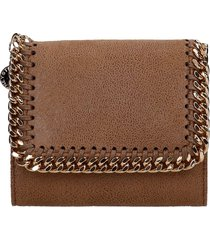 stella mccartney falabella wallet in leather color faux leather