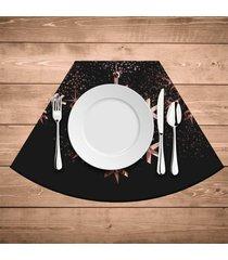 jogo americano para mesa redonda wevans estrela premium kit com 4 pçs