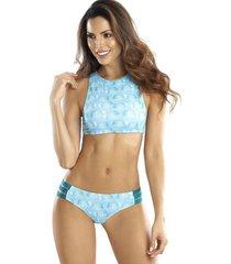bikini halter reversible aquario azul 213/324acz