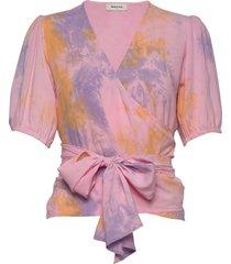 cello print top blouses short-sleeved rosa modström
