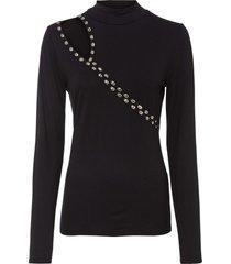 maglia a maniche lunghe con cut-out (nero) - bodyflirt
