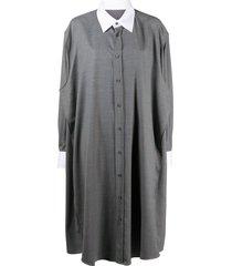 maison margiela oversized shirt dress - grey