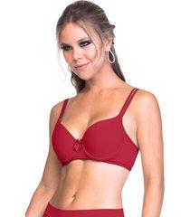 sutiã sempre sensual lingerie com alça rolotê vermelho - kanui