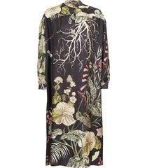 liga ayssen floral-print silk-twill dress