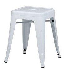 banqueta iron baixa cor branca 46 cm (alt) - 37985 branco