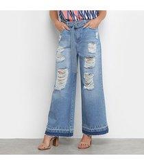 calça jeans my favorite thing (s) pantacourt super high feminina