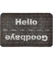 capacho carpet goobaye/hello cinza único love decor