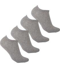 medias tipo baleta gris invisibles diseños uou socks pack x 4 und envio gratuito