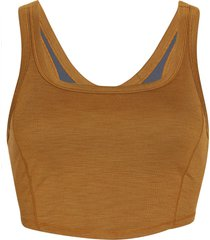 prana women's becksa bralette - antique bronze heather - small cotton shirt