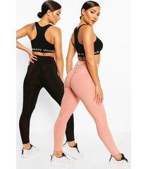 booty boost leggings (2 stuks), rose