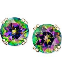 14k gold earrings, mystic topaz studs (4-1/2 ct. t.w.)